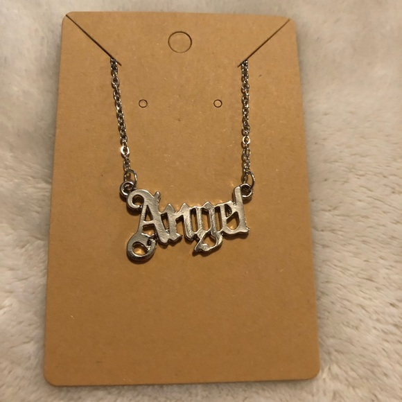 """Silver """"ANGEL"""" necklace"""